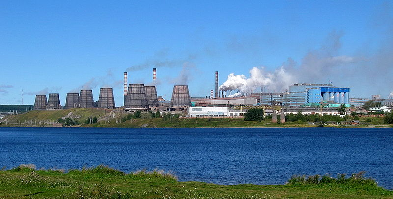 Панорама Богословского алюминиевого завода в Свердловской области