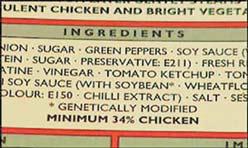 Этикетка на продуктах, содержащих трансгенную сою