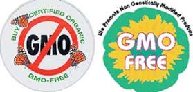 Маркировки, обозначающие отсутствие генетически модифицированных компонентов в продукте