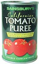 Томатное пюре — первый генетически модифицированный пищевой продукт, появившийся в Европе в продаже (в 1996 году)