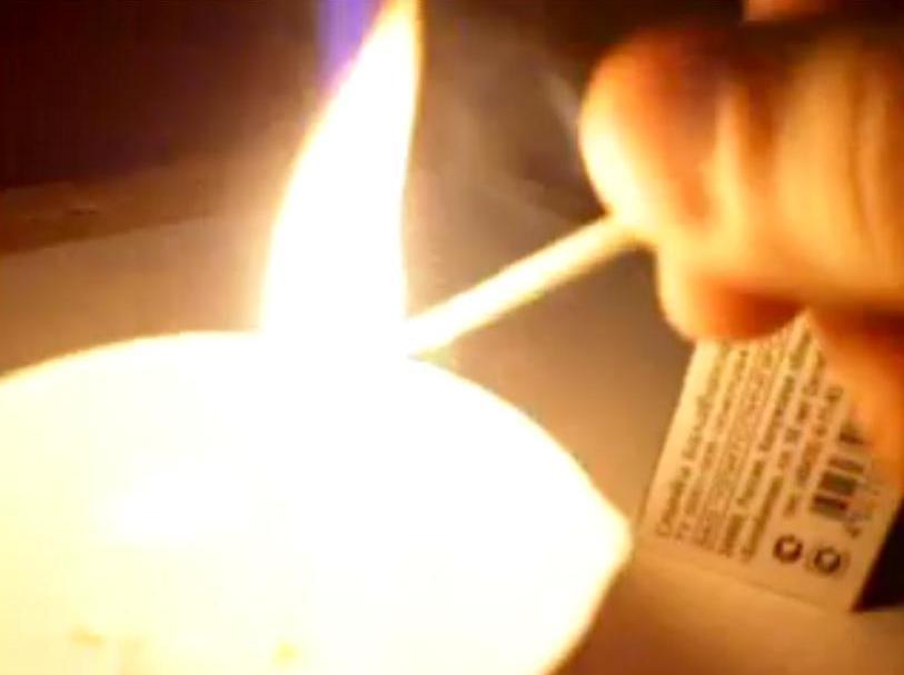 Воспламенение спички от контакта с серной кислотой