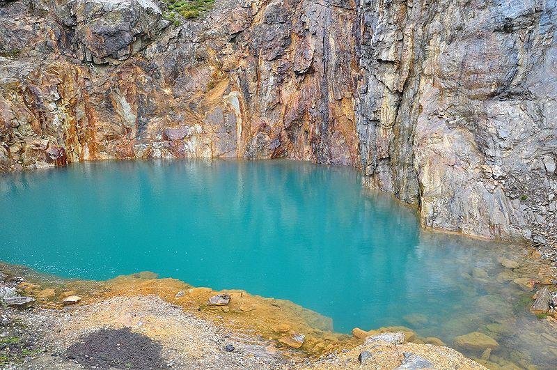 Заброшенная шахта, в которой добывали барит