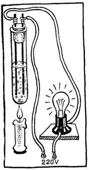 Зажгите лампу спичкой