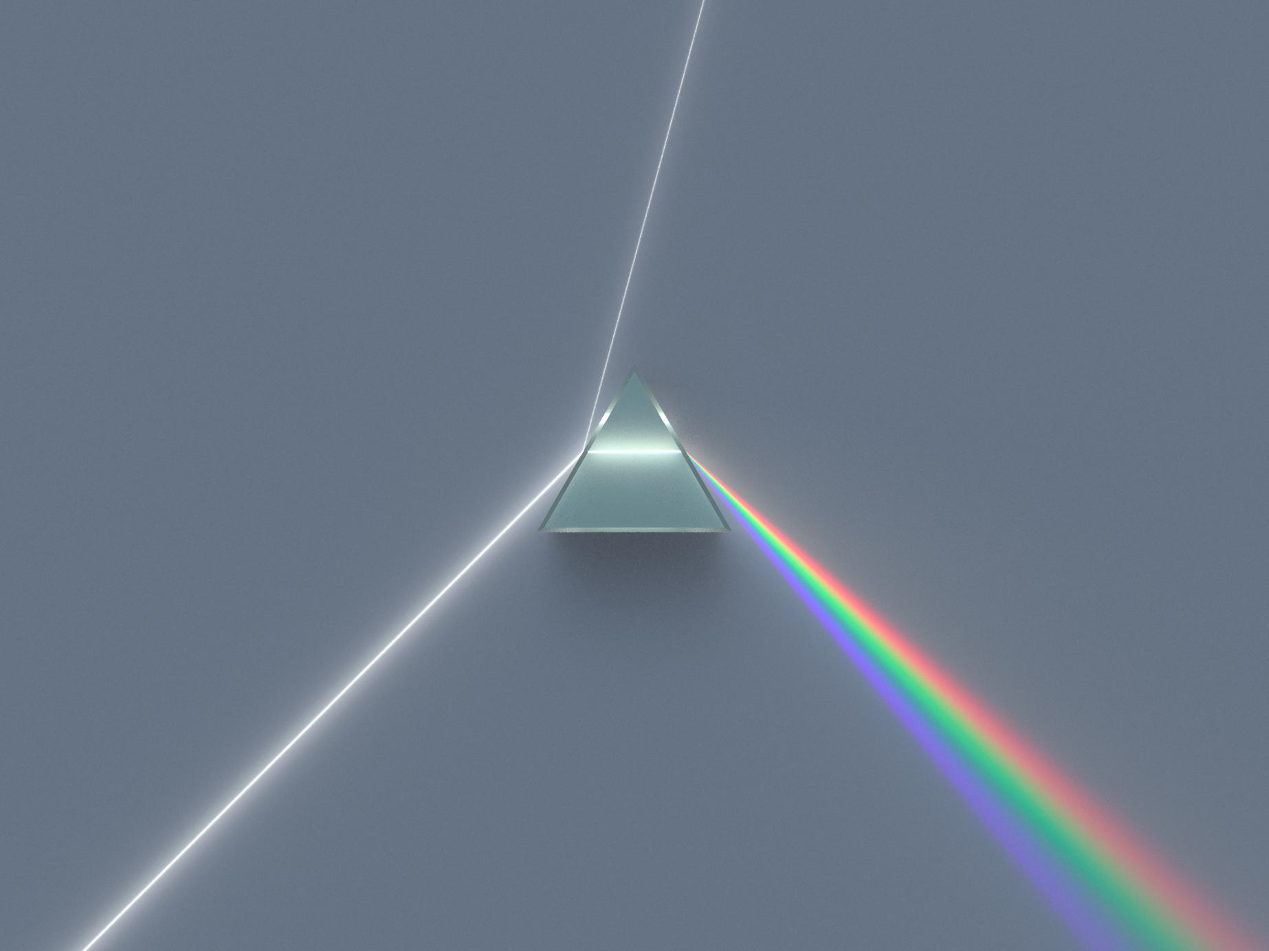 Призма разлагает белый свет