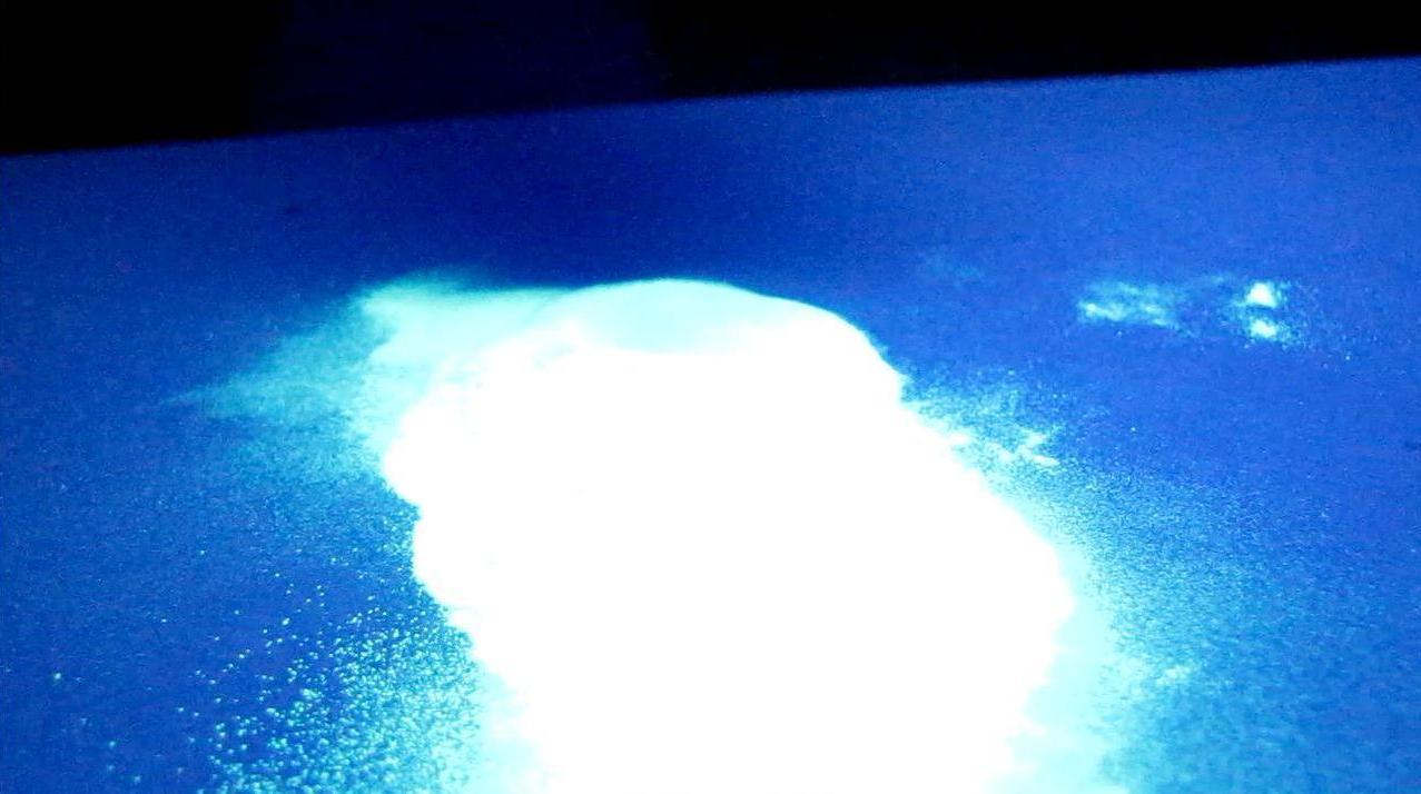 Люминофор в ультрафиолетовом свете