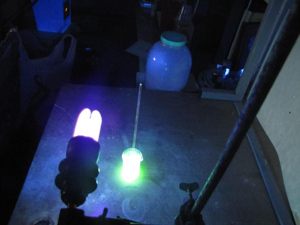 Светящаяся пена (подготовка)