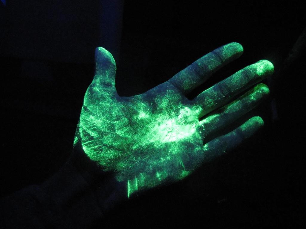 Светящаяся рука
