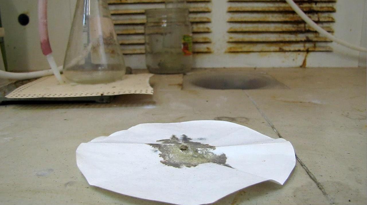 Фульминат серебра - взрыв