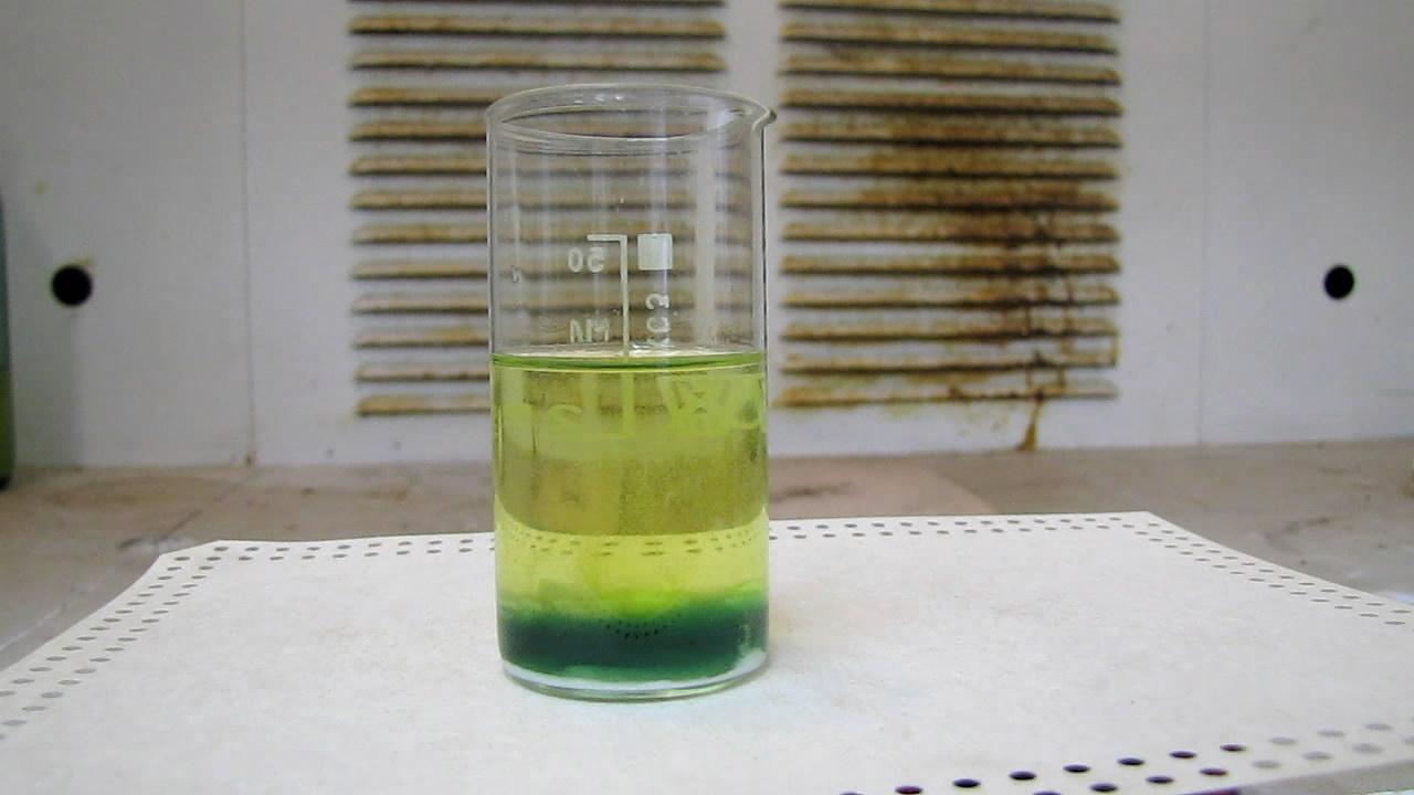 Растворение ртути в концентрированной (60%) азотной кислоте