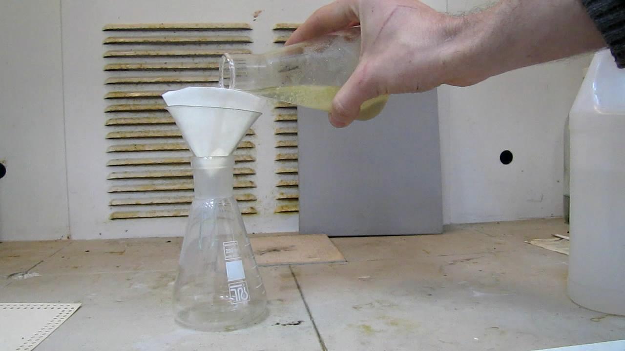 Фульминат ртути: фильтрование