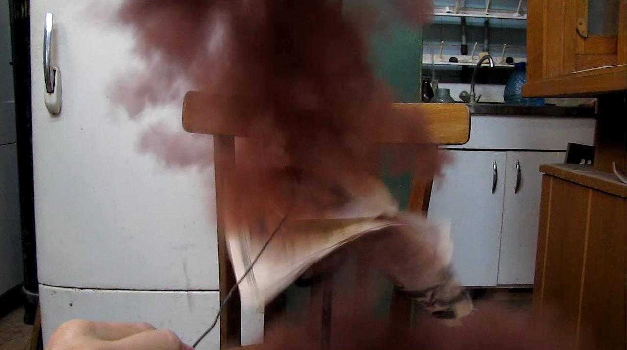 Взрыв иодистого азота (нитрида иода) NI3·NH3