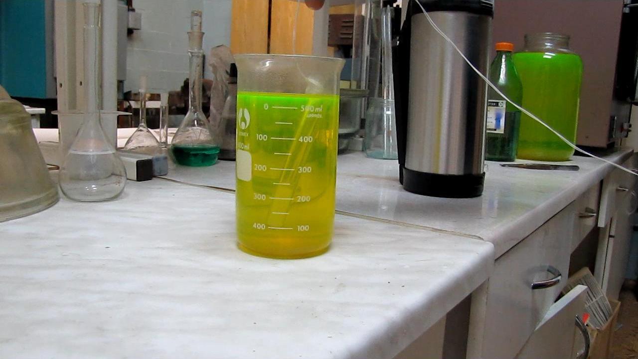 Замораживание гексана