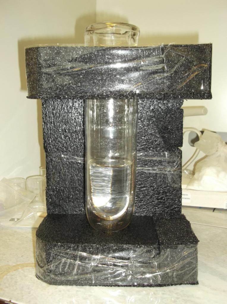 Самодельная подставка для сосуда Дьюара (в сосуде вода)