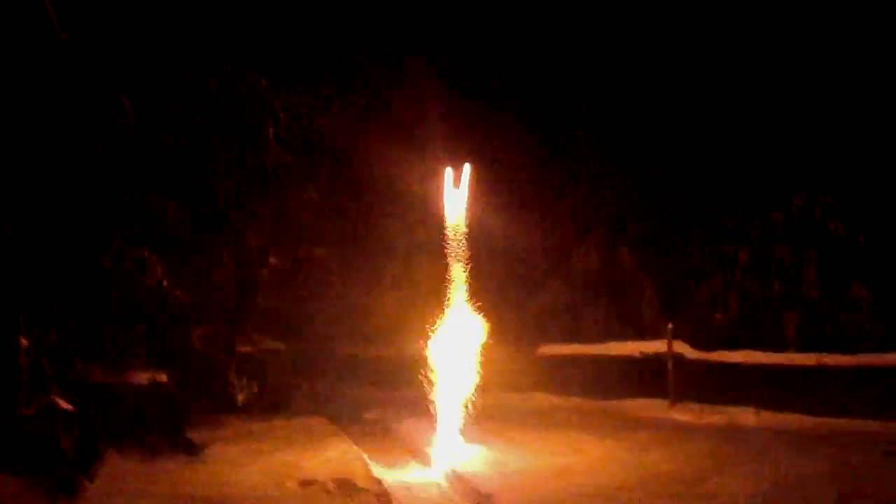 Мортиры и римские свечи - испытание