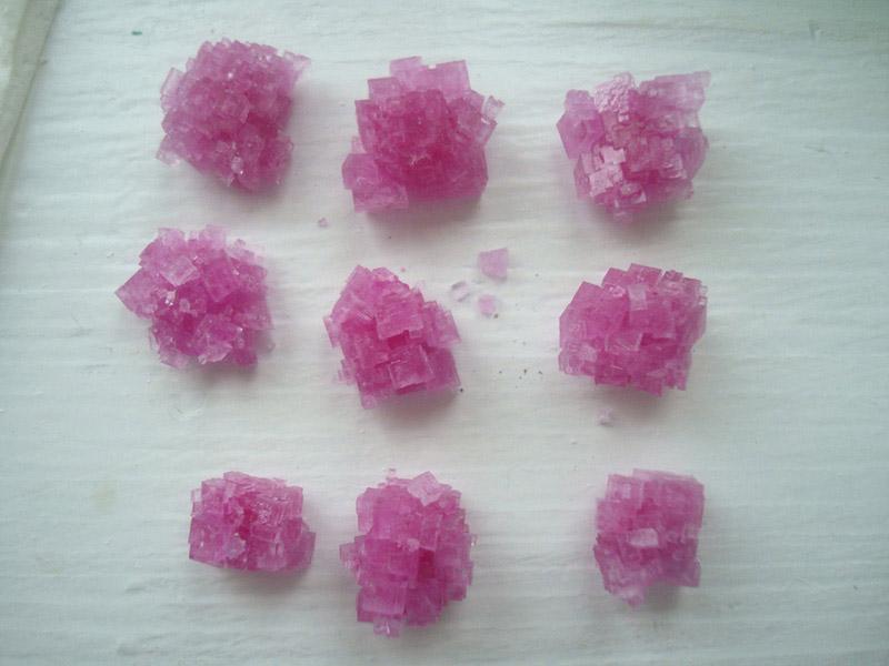Хлорид натрия - подкрашенные кристаллы