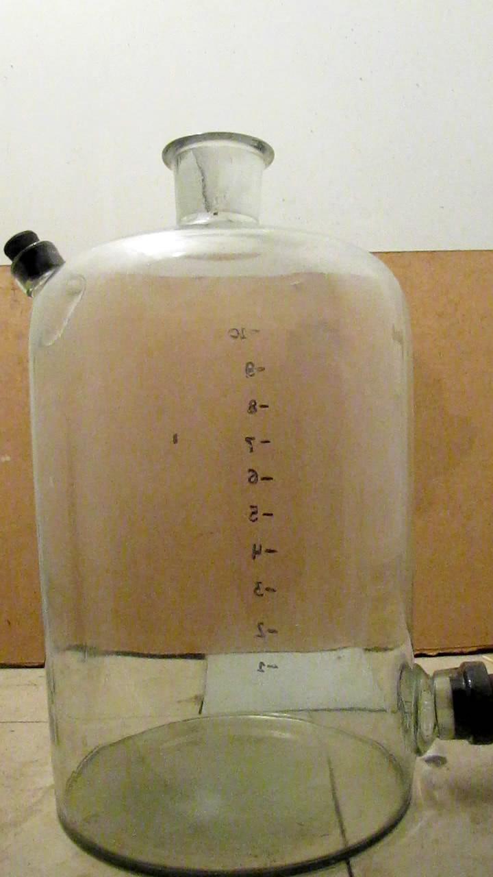 Горение паров спирта  (бутыль 10 л)