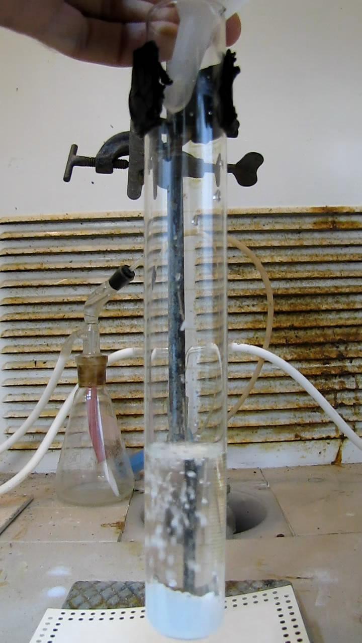 Реакция алюминия и щелочи (получение алюмината натрия)