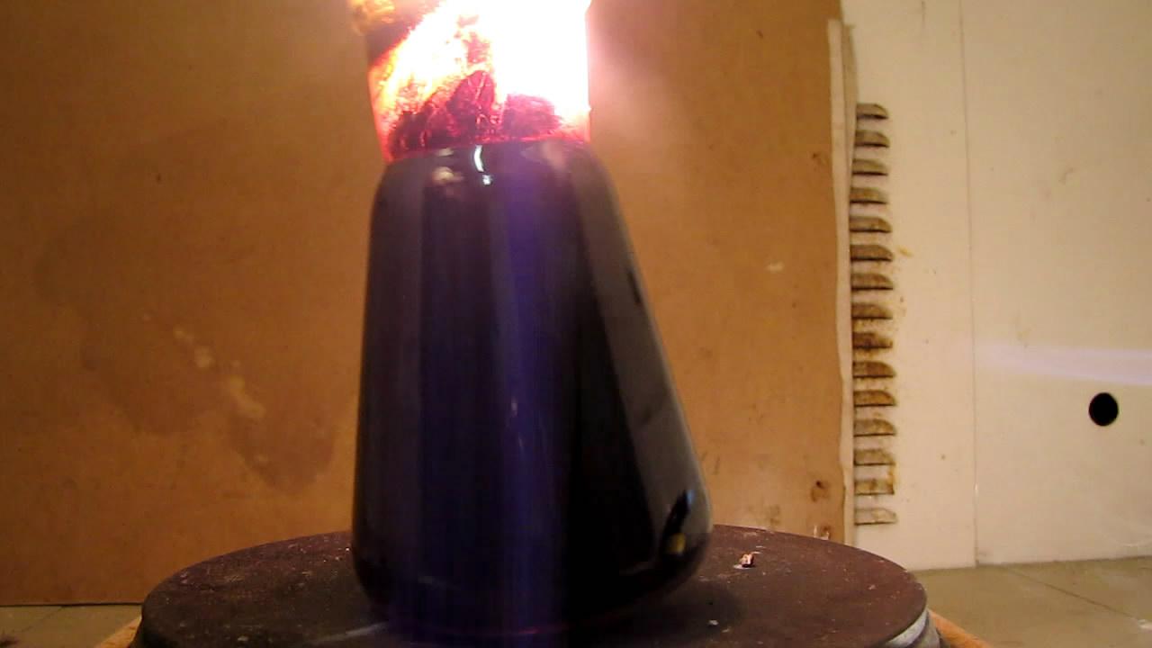 Горение магния в парах иода