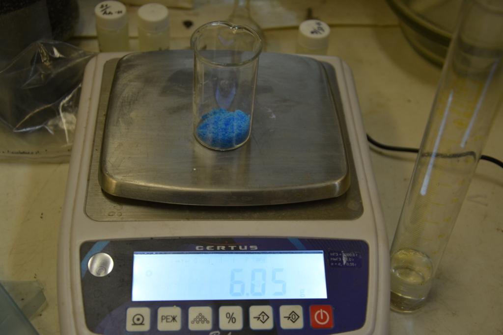 Осмос - раствор сульфата меди (медного купороса)