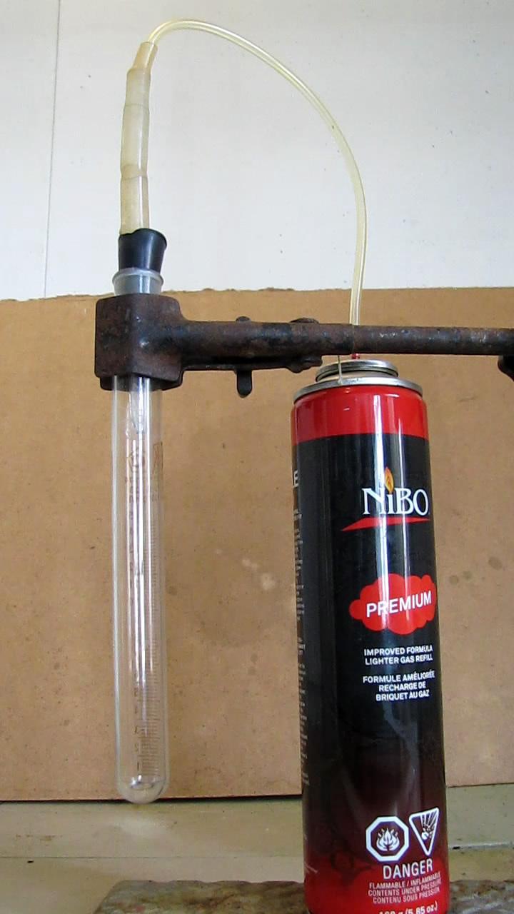 Жидкий бутан из баллончика