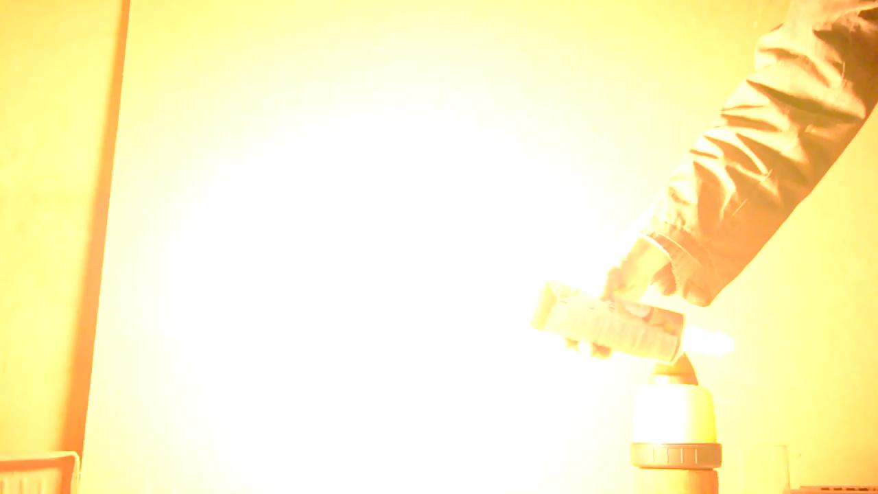 Взрыв ацетилена в корпусе аэрозольного баллончика