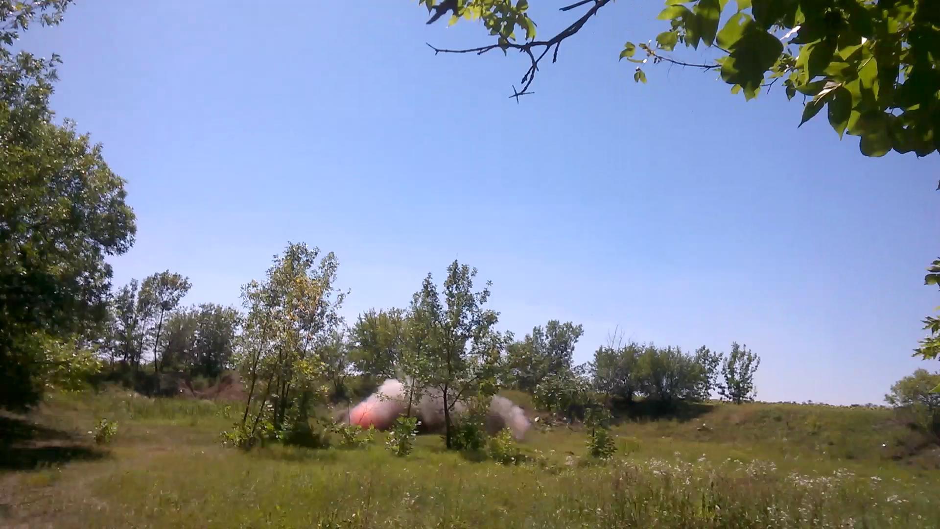 Взрыв тротила. Explosion of Trinitrotoluene
