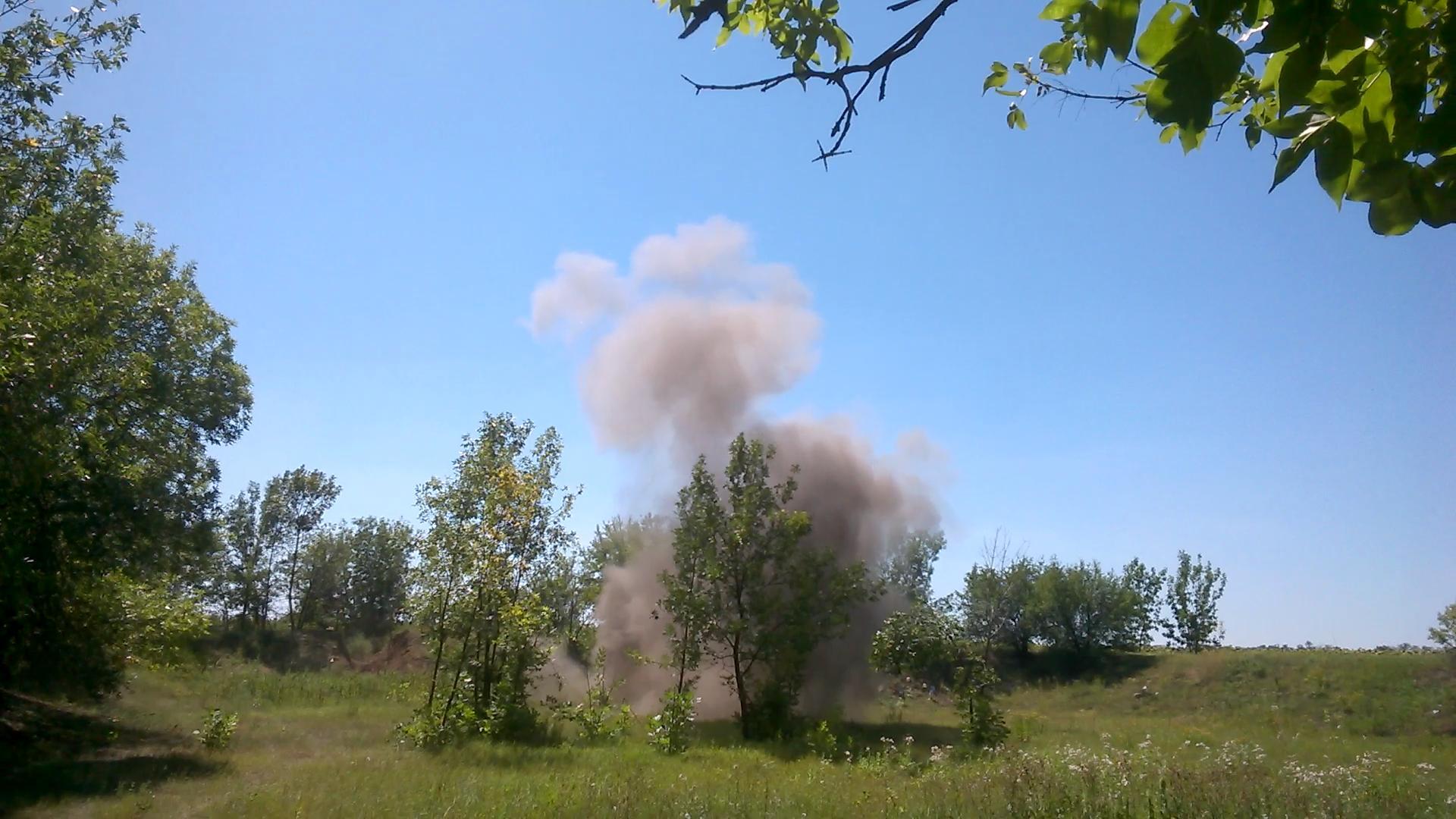 TNT Explosion (Explosion of Trinitrotoluene) - 1000 g. Взрыв тротила (тринитротолуола) - 1000 г