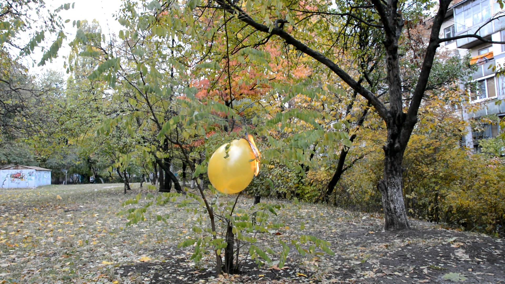 Смесь ацетилен-воздух (взрыв воздушного шарика). Mixture of Acetylene and Air (Explosion of Toy Balloon)