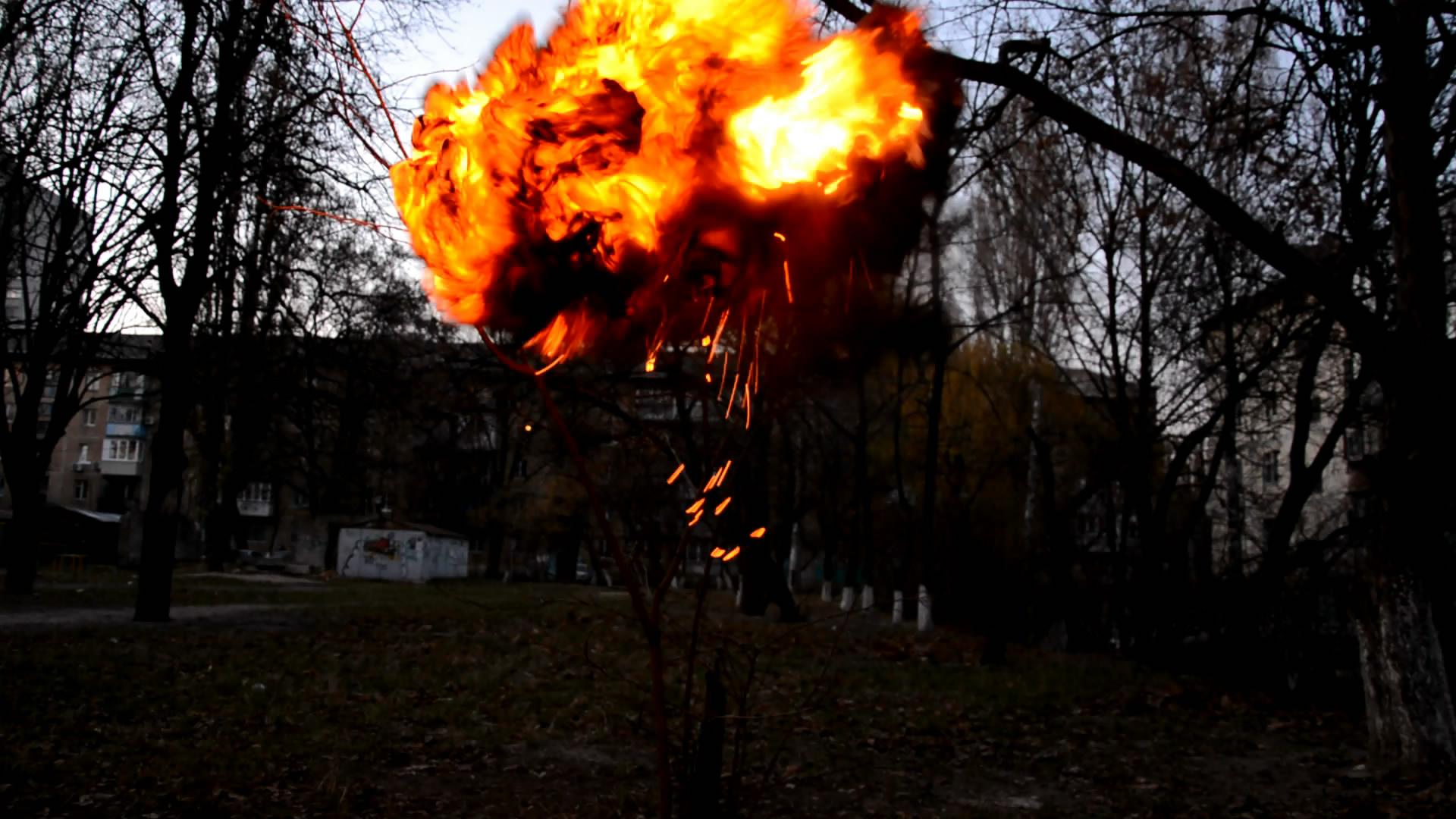 Ацетилен (взрыв воздушного шарика). Acetylene (Explosion of Toy Balloon)