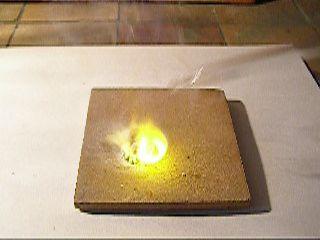 Воспламенение муравьиной кислоты под действием перекиси натрия. Sodium Peroxide and Formic Acid (Ignition)