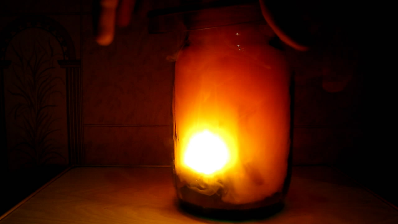 Burning Red Phosphorus in Nitrogen Dioxide. Горение красного фосфора в диоксиде азота