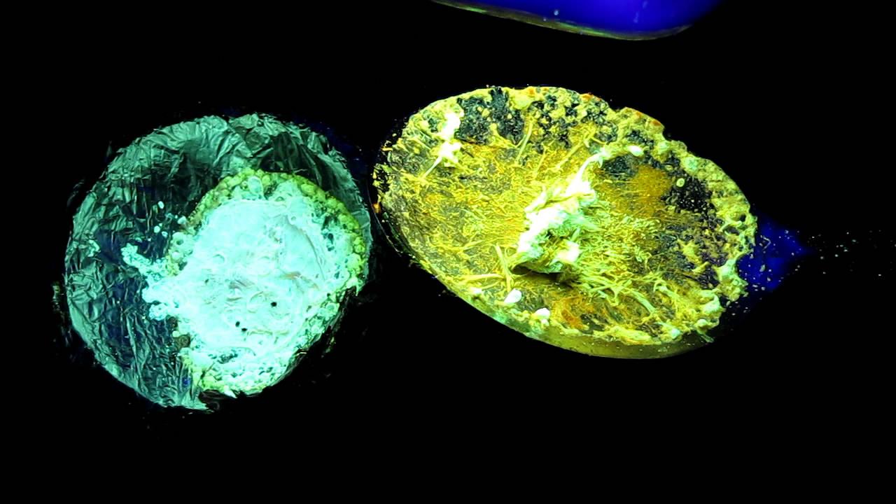 Люминофор на основе борной кислоты: флуоресцеин. Boric acid phosphor: fluorescein