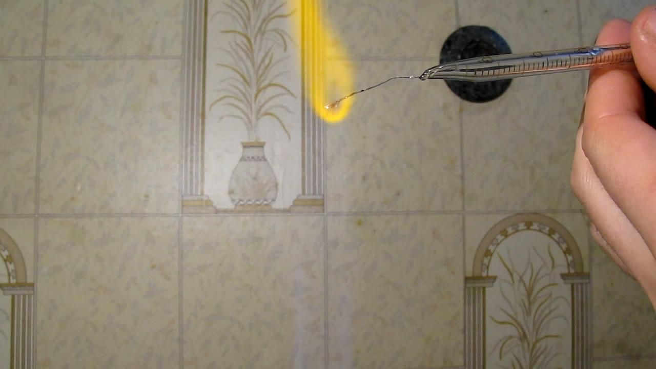 Перлы буры: хром (восстановительное пламя). Borax bead tests: chromium (reducing flame)