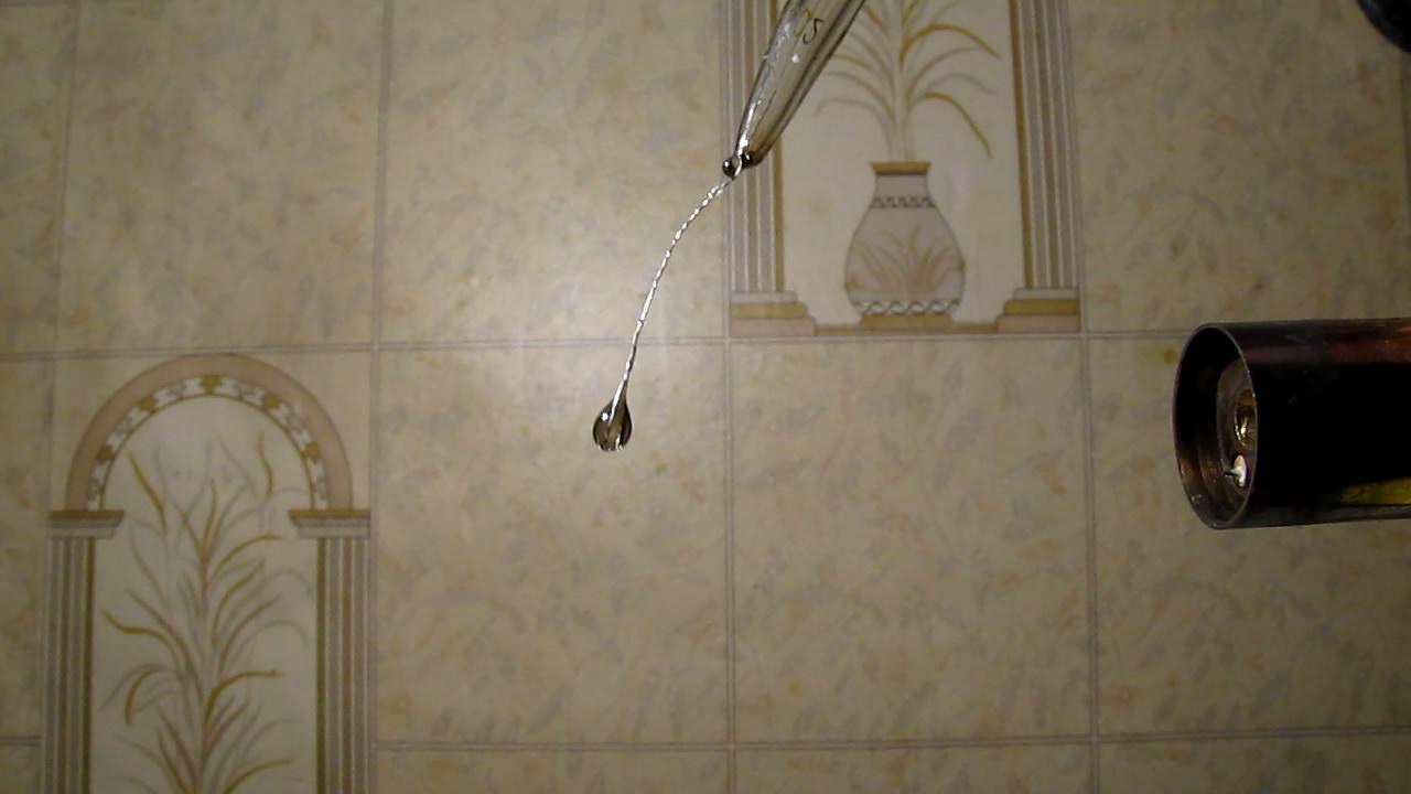 Перлы буры: ванадий. Borax bead tests: vanadium