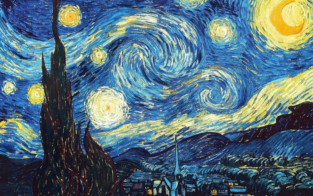 Ван Гог - Звездная ночь. Vincent van Gogh - The Starry Night