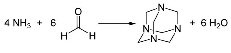 'Уротропин, или гексаметилентетрамин (СH2)6N4. Hexamine