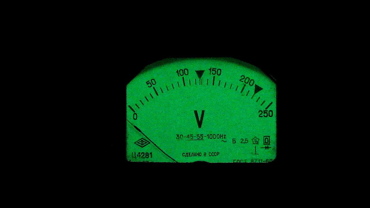 Измерительные приборы с люминофорами. Measuring instruments with phosphors