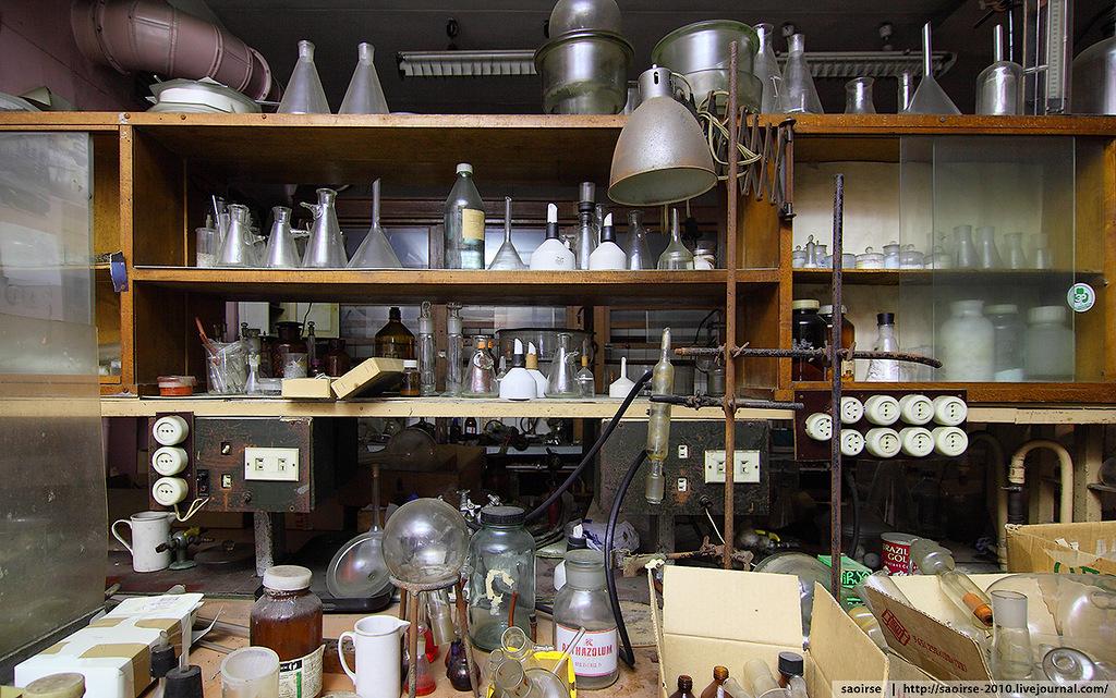 Заброшенная химическая лаборатория. Abandoned chemical laboratory