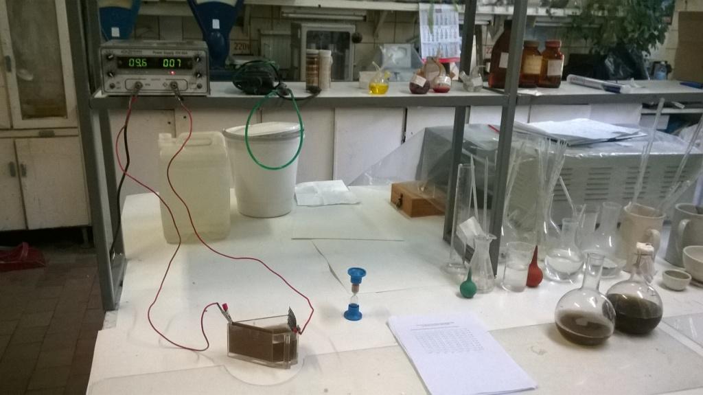 Ячейка Хулла (электролит золочения). Hull Cell (electrolyte for gold plating)