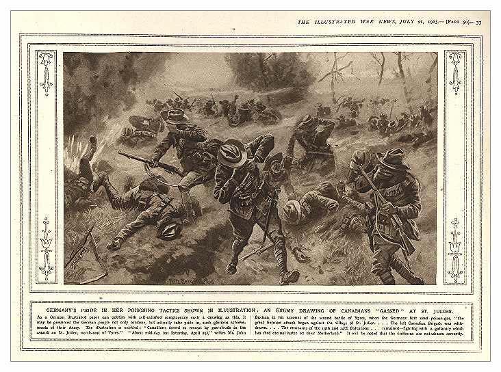 Канадские войска, пораженные ОВ на поле боя