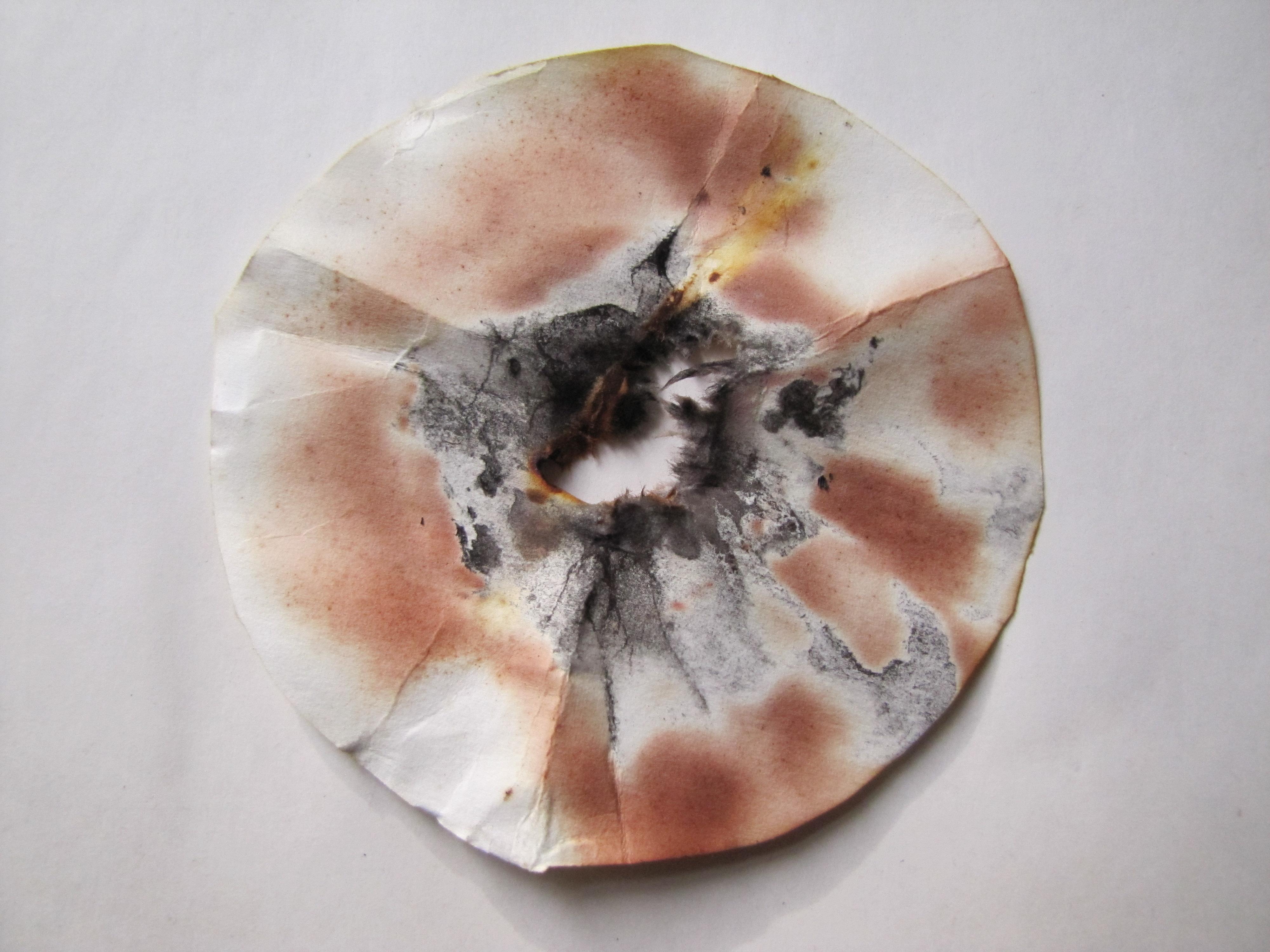 Фильтр после взрыва иодистого азота