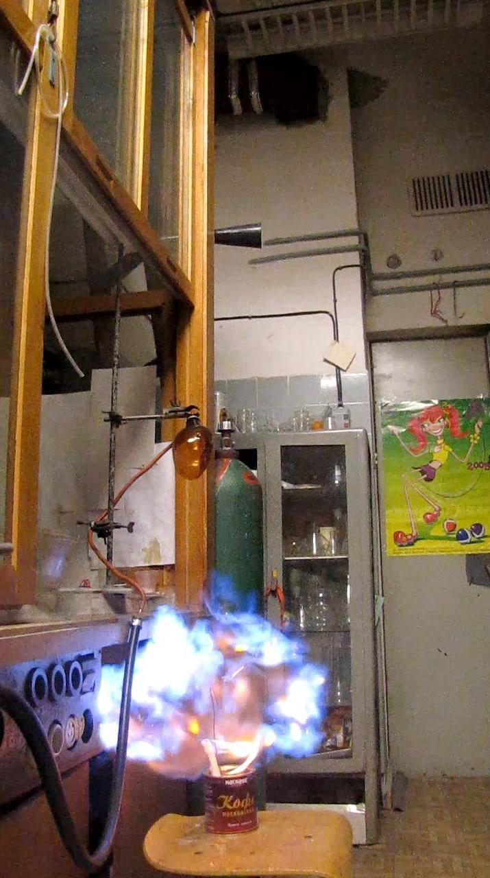 Мыльные пузыри с пропан-бутановой смесью
