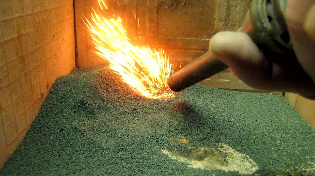 Каталитическое горение пропан-бутановой смеси на оксиде хрома (III)