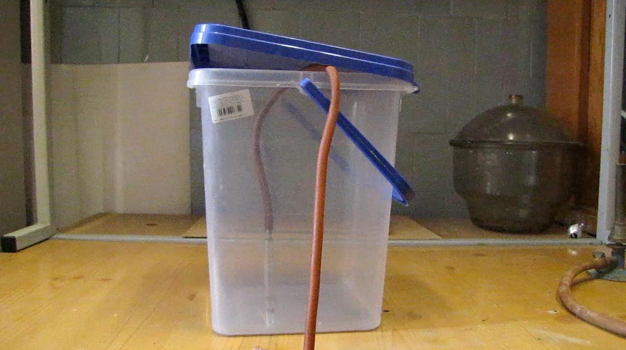 Наполним ведро пропан-бутановой смесью