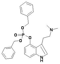4-дибензилфосфорулокси-3-N,N-диметилтриптамин