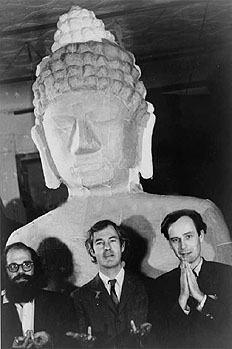 Аллен Гинсберг, Тимоти Лири, Ральф Метцнер (справа) 1966 г