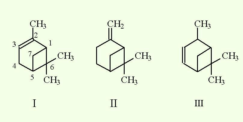 Изомеры пинена