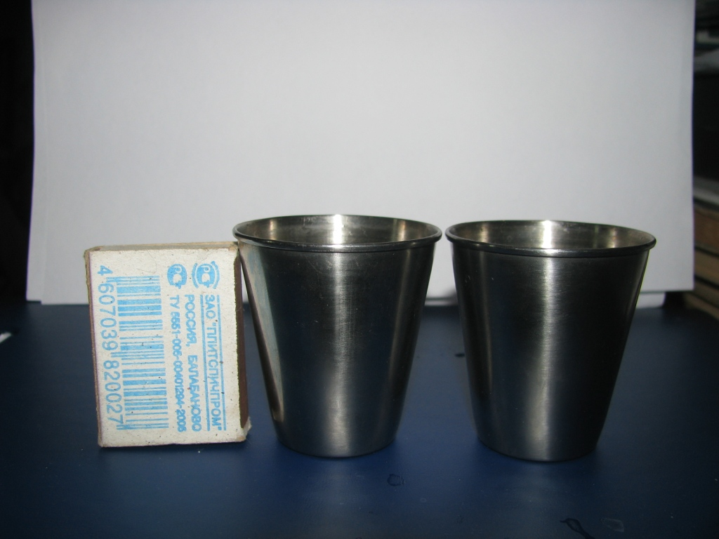 Стаканчики из нержавеющей стали (стопки)