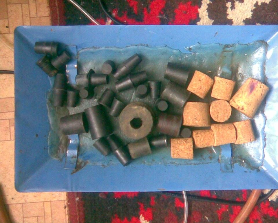 Резиновые и корковые пробки