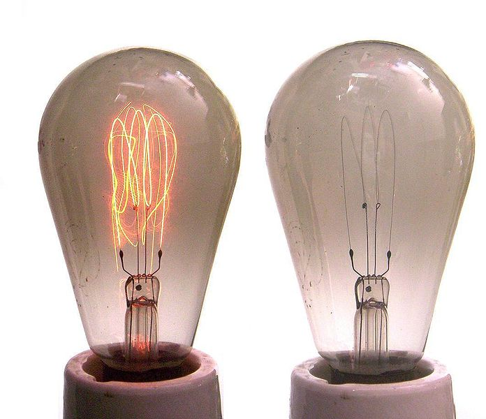 Лампы накаливания с угольной нитью